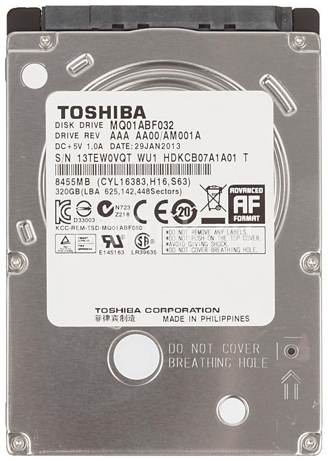 Ổ cứng HDD laptop Toshiba 320Gb 5400rpm